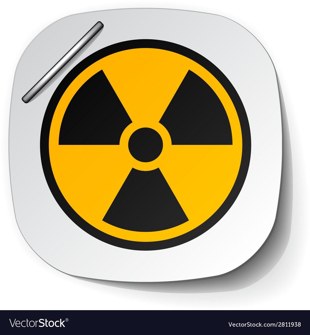 Radiation symbol label vector | Price: 1 Credit (USD $1)