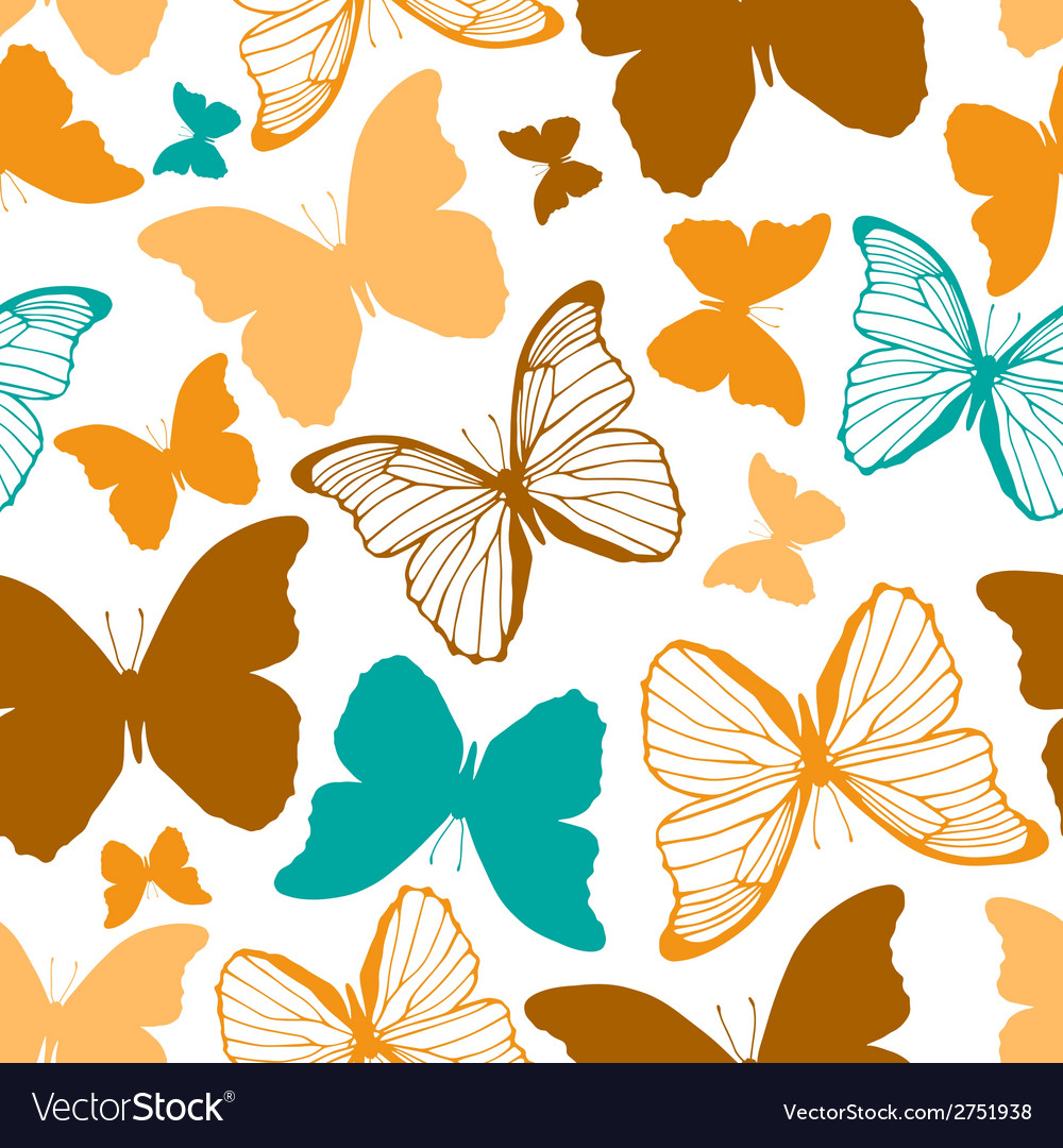 Seamless pattern with outline and silhouette vector | Price: 1 Credit (USD $1)