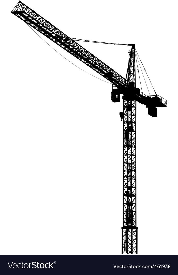 Tower crane vector | Price: 1 Credit (USD $1)