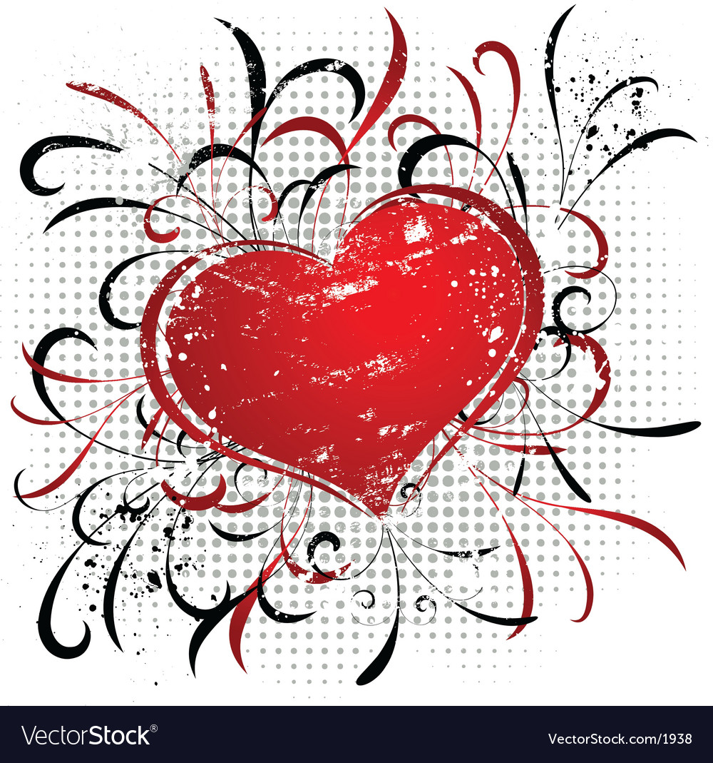 Valentine grunge vector | Price: 1 Credit (USD $1)