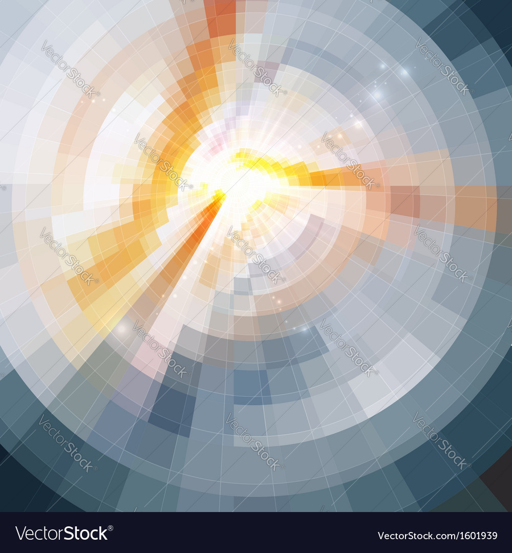 Abstract shining circle tonnel background vector | Price: 1 Credit (USD $1)