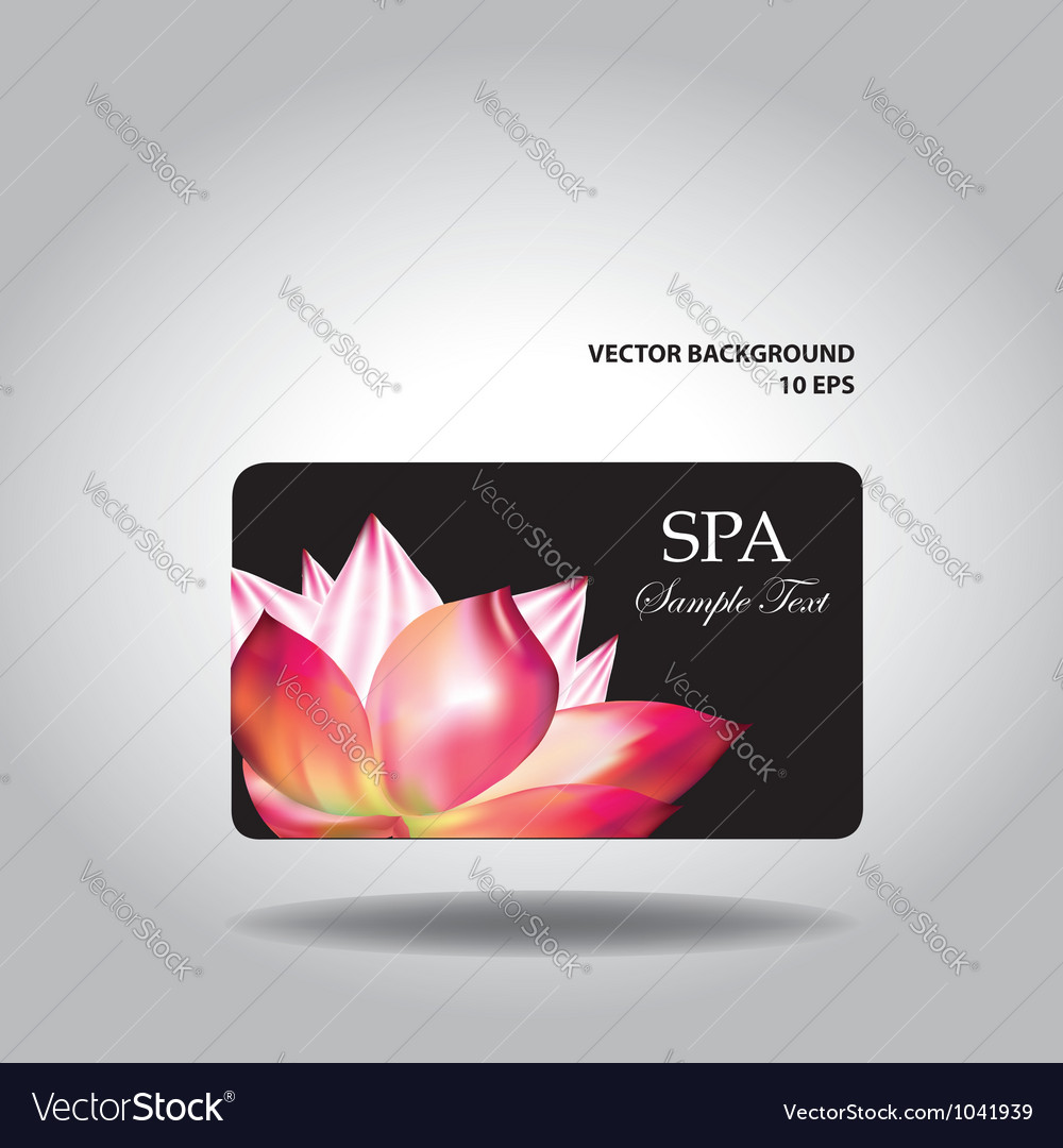 Business card with flower vector | Price: 1 Credit (USD $1)
