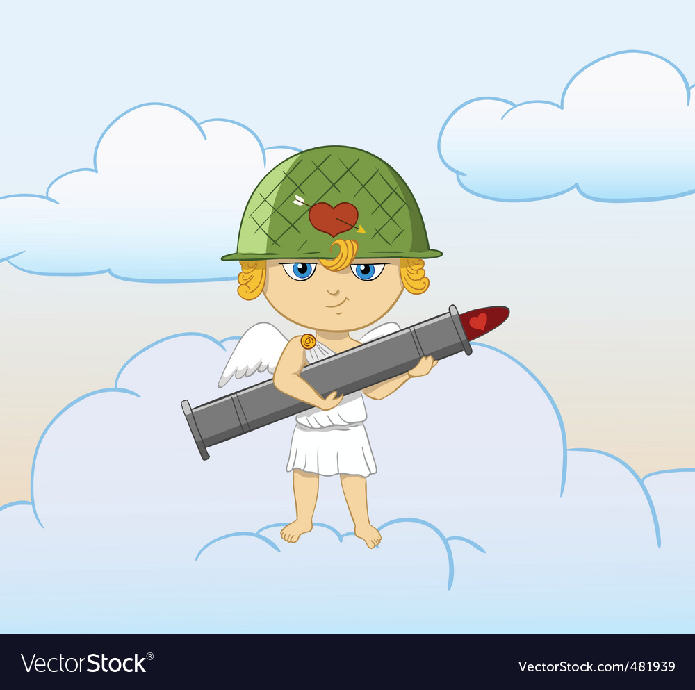 Cartoon cupid vector | Price: 1 Credit (USD $1)