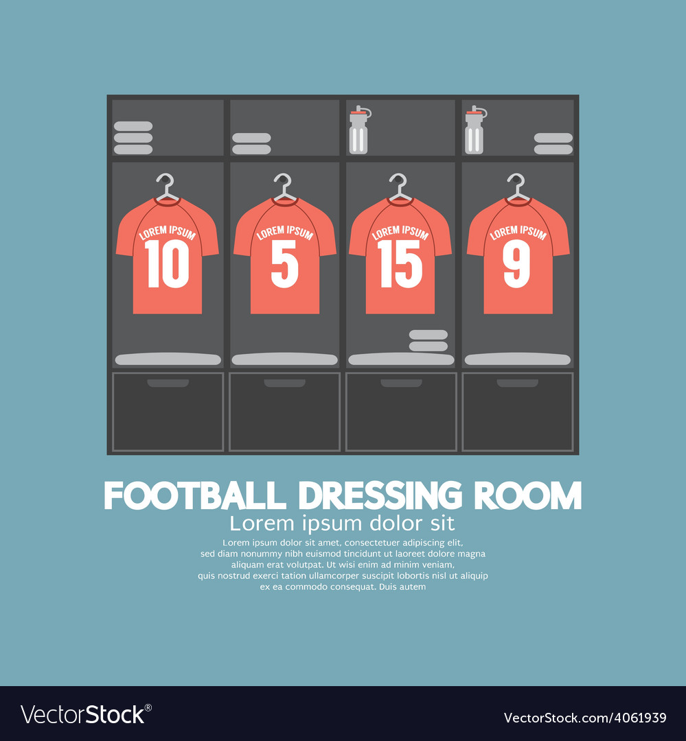 Football or soccer dressing room vector | Price: 1 Credit (USD $1)