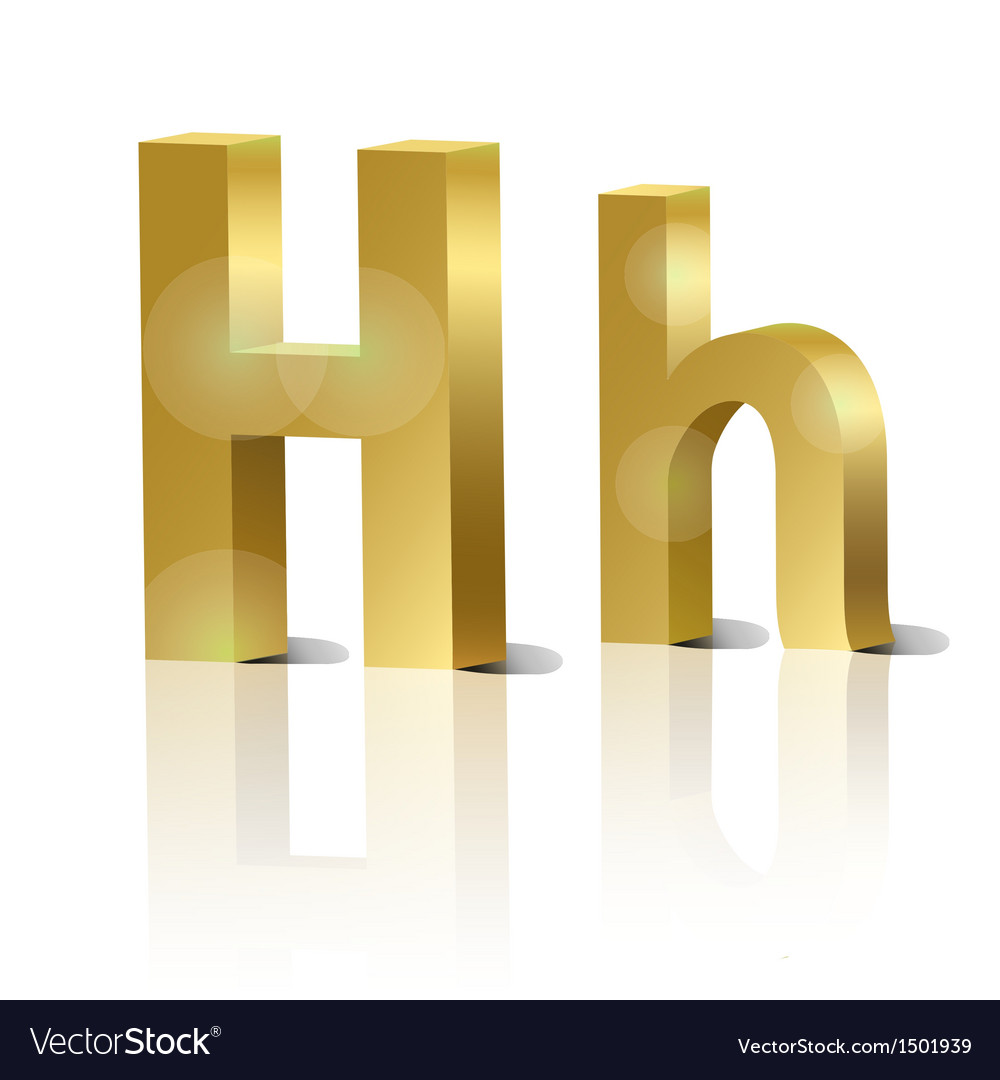 Golden letter h vector | Price: 1 Credit (USD $1)