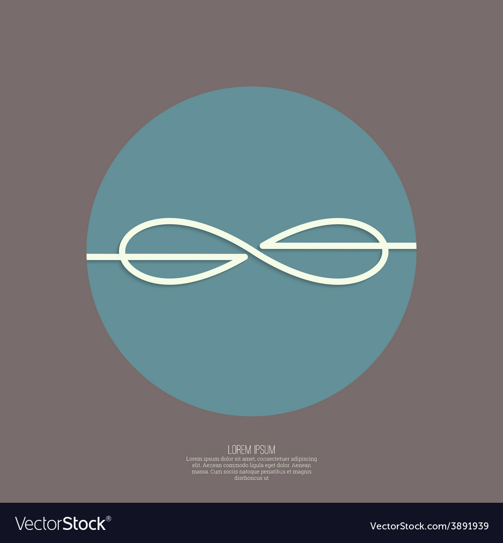 Infinity sign vector | Price: 1 Credit (USD $1)