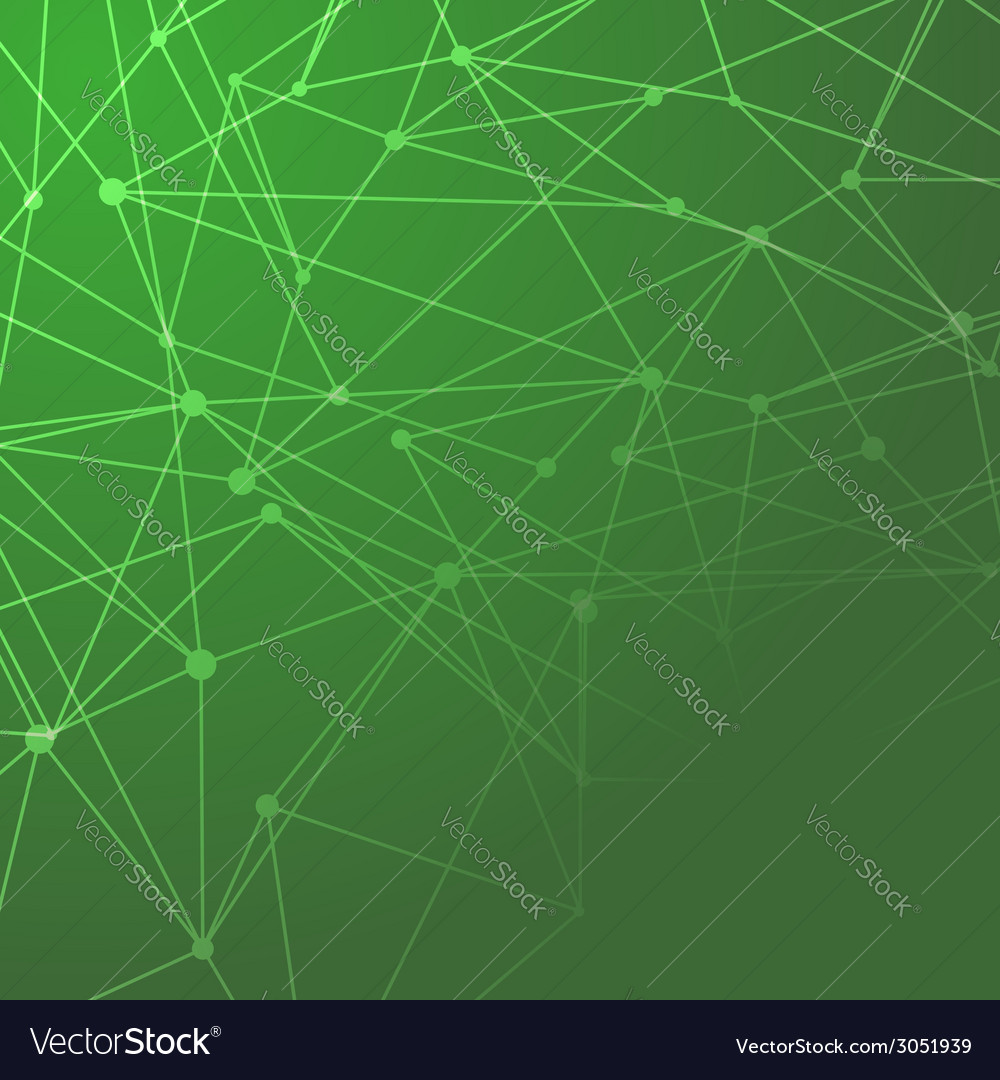 Molecules connected green background vector | Price: 1 Credit (USD $1)