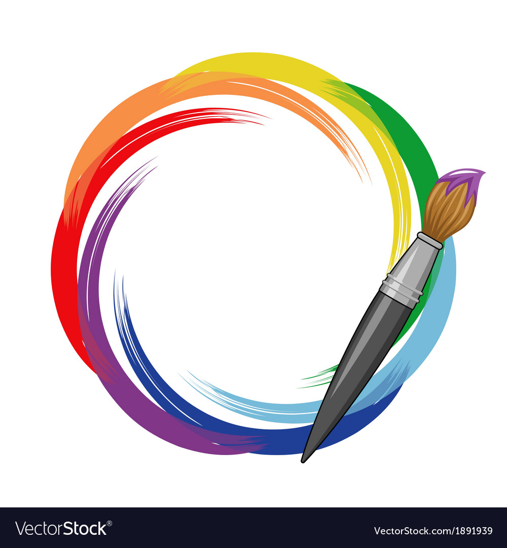 Paint brush rainbow background vector | Price: 1 Credit (USD $1)