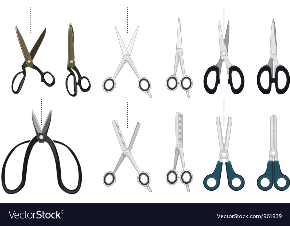 Scissor collection set vector | Price: 1 Credit (USD $1)
