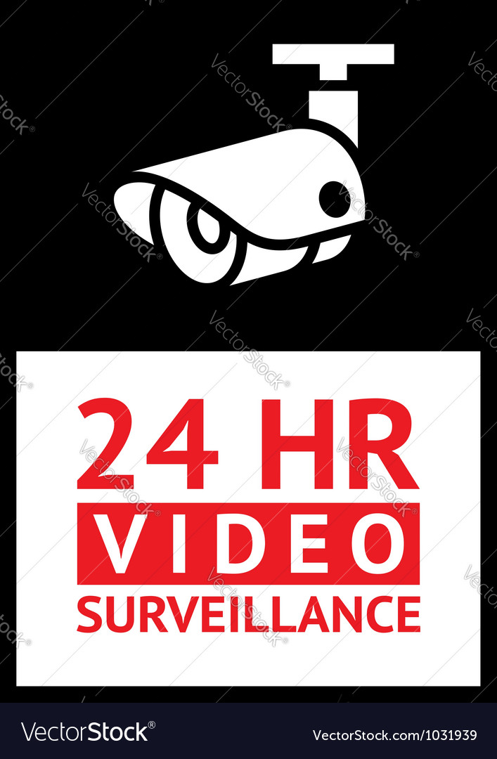Sticker cctv vector | Price: 1 Credit (USD $1)