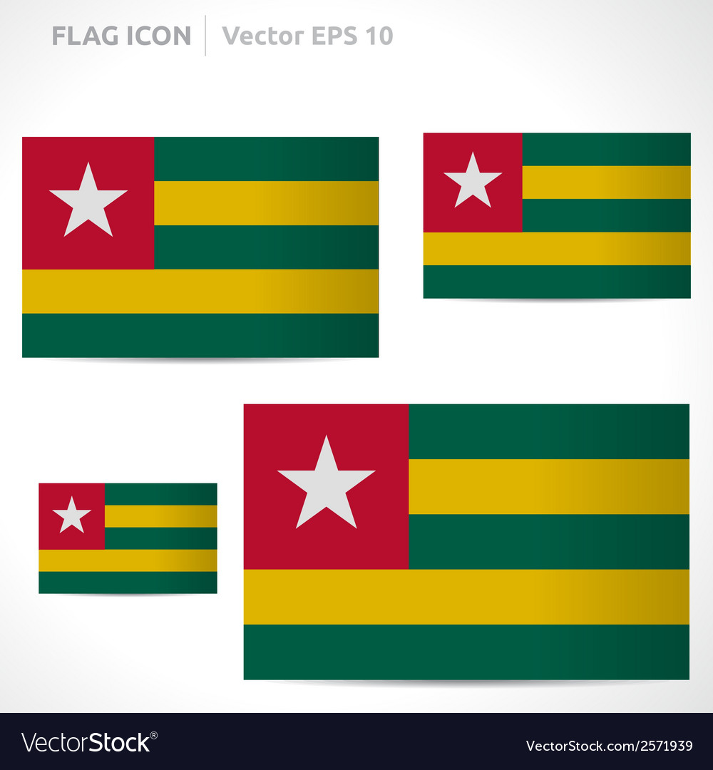 Togo flag template vector | Price: 1 Credit (USD $1)