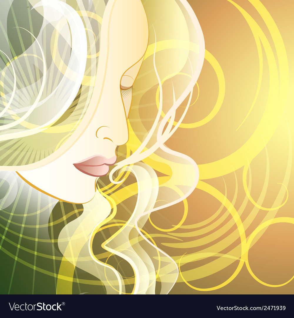 Woman in fantasy style vector | Price: 1 Credit (USD $1)