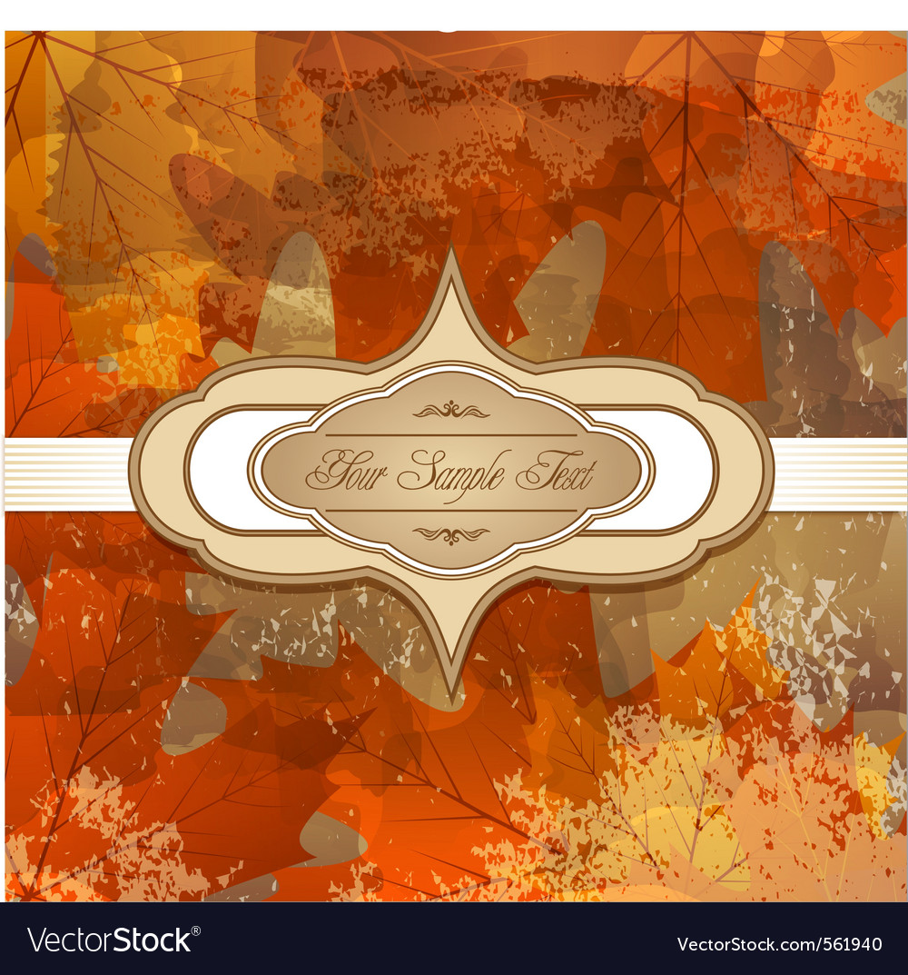 Grungy autumn background vector | Price: 1 Credit (USD $1)