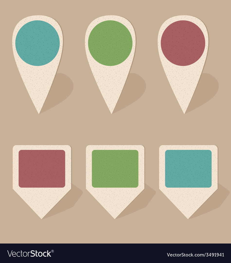 Cardboard icons isolated on beige vector | Price: 1 Credit (USD $1)