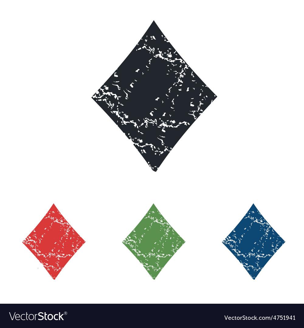 Diamonds grunge icon set vector | Price: 1 Credit (USD $1)