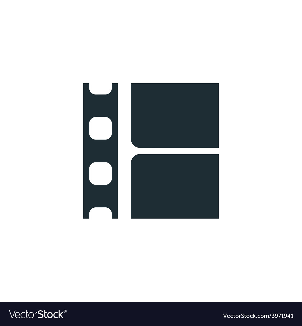 Film strip simple conceptual logo vector | Price: 1 Credit (USD $1)