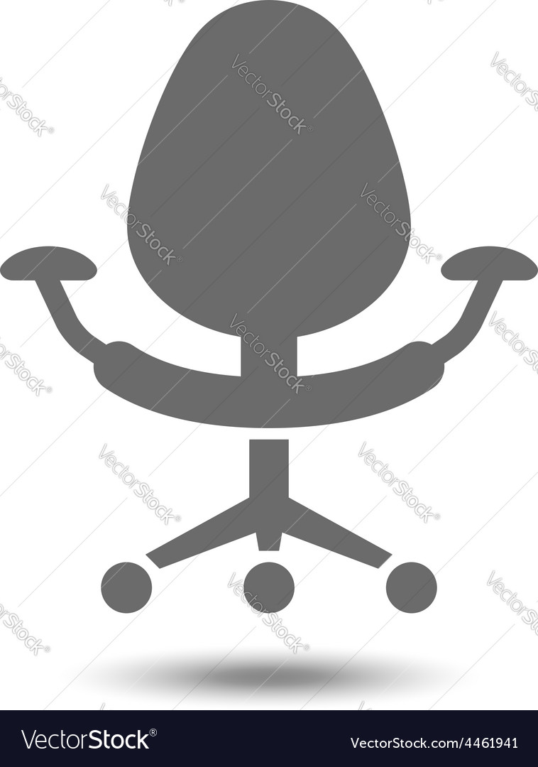 Office chair icon isolated on white background vector | Price: 1 Credit (USD $1)