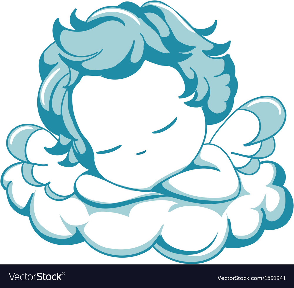 Sleeping litle angel vector | Price: 1 Credit (USD $1)