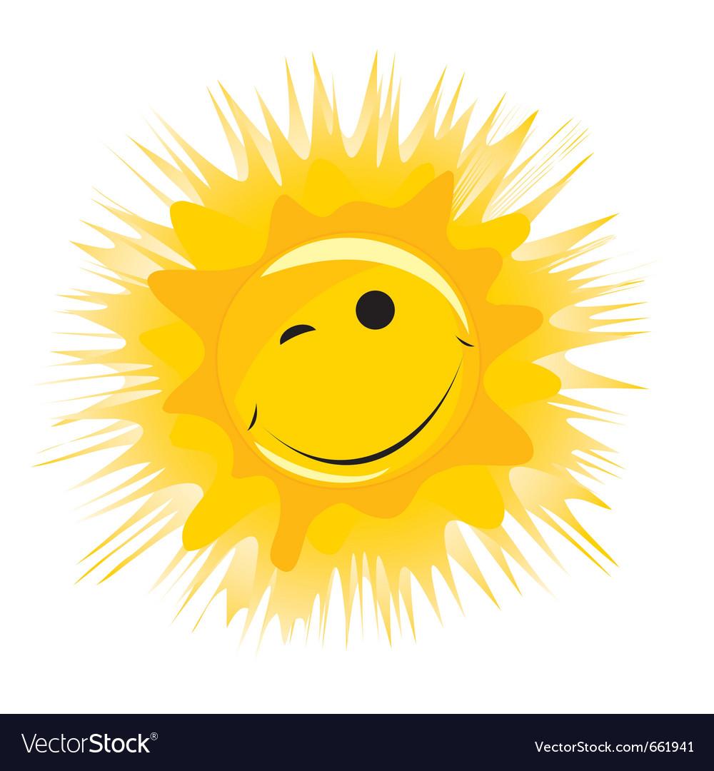 Smiley sun vector | Price: 1 Credit (USD $1)