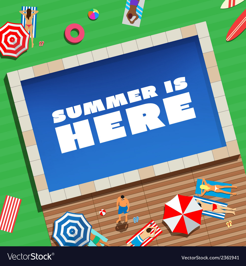 Summer is here abstract background or card people vector | Price: 1 Credit (USD $1)