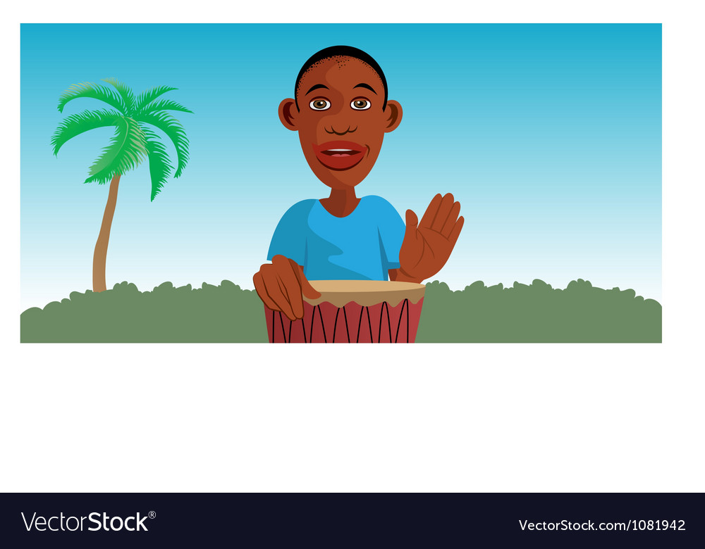 African drummer vector | Price: 3 Credit (USD $3)