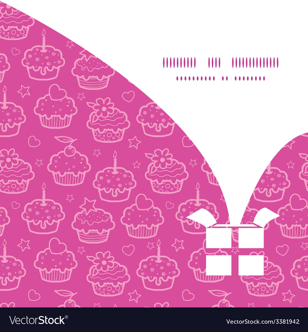 Colorful cupcake party christmas gift box vector | Price: 1 Credit (USD $1)