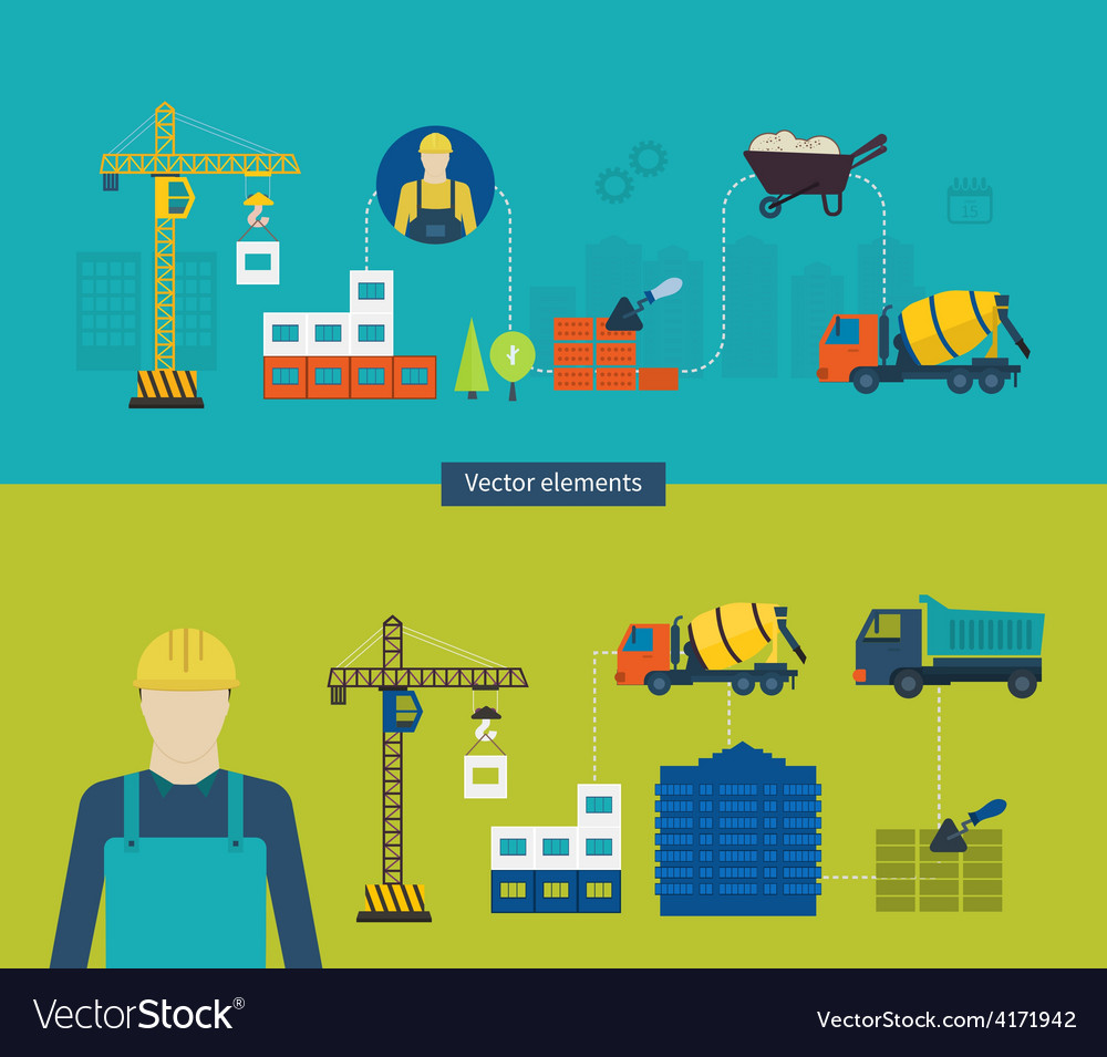 Construction of building concept vector | Price: 1 Credit (USD $1)