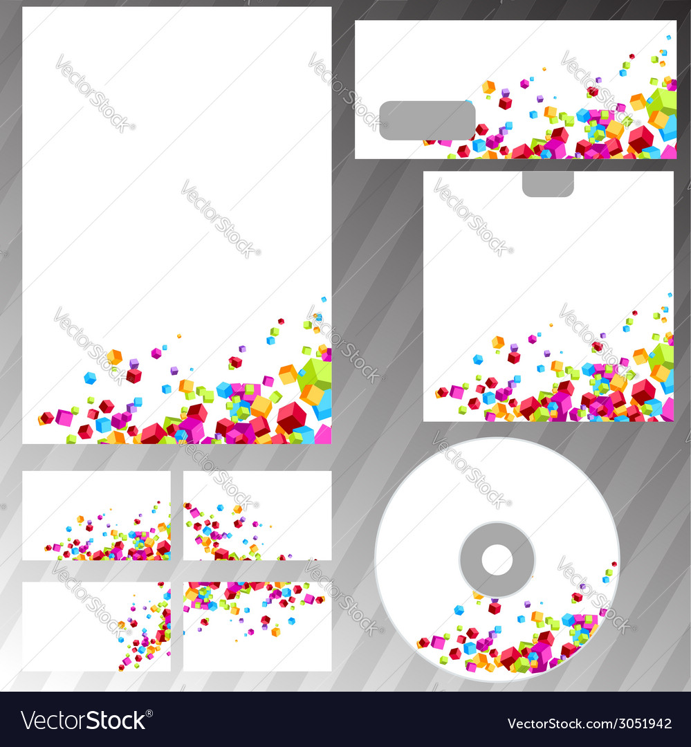Contemporary colorful cube business mock-up vector | Price: 1 Credit (USD $1)