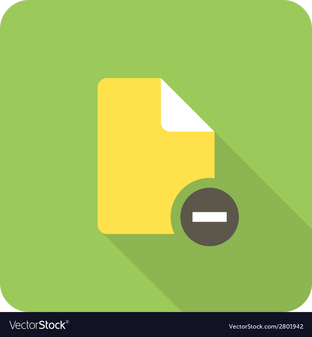 Delete file vector | Price: 1 Credit (USD $1)