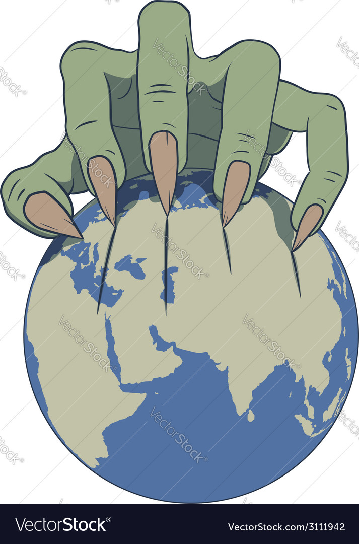 Earth in danger vector | Price: 1 Credit (USD $1)