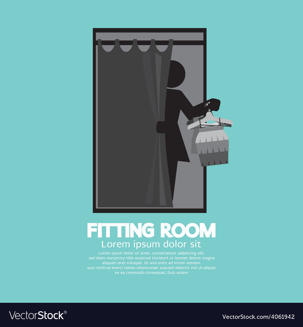 Fitting room black graphic vector | Price: 1 Credit (USD $1)