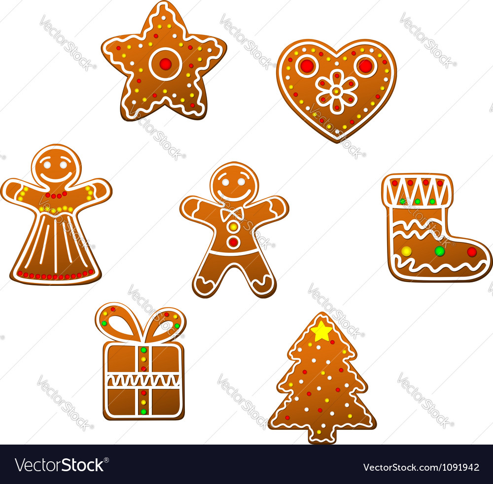 Gingerbread cookies vector | Price: 1 Credit (USD $1)