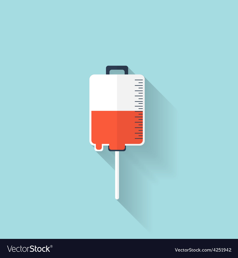 Intravenous therapy system iconmedical dropper vector | Price: 1 Credit (USD $1)