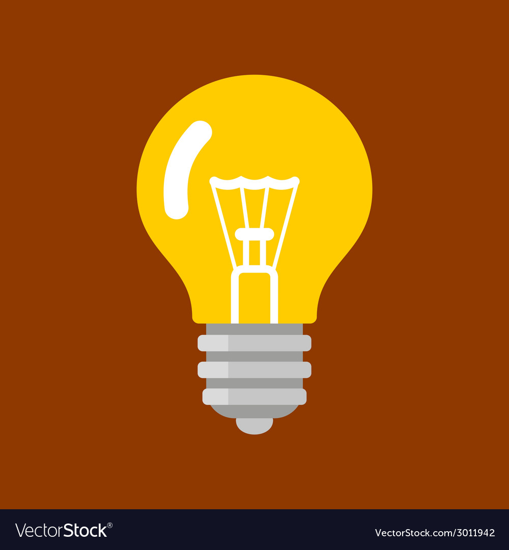 Light bulb shape as inspiration concept flat icon vector | Price: 1 Credit (USD $1)