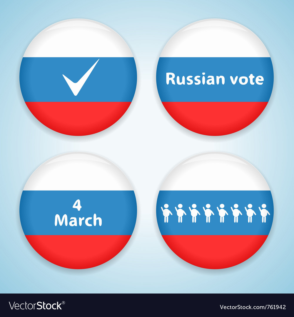 Russian presidential election vector | Price: 1 Credit (USD $1)
