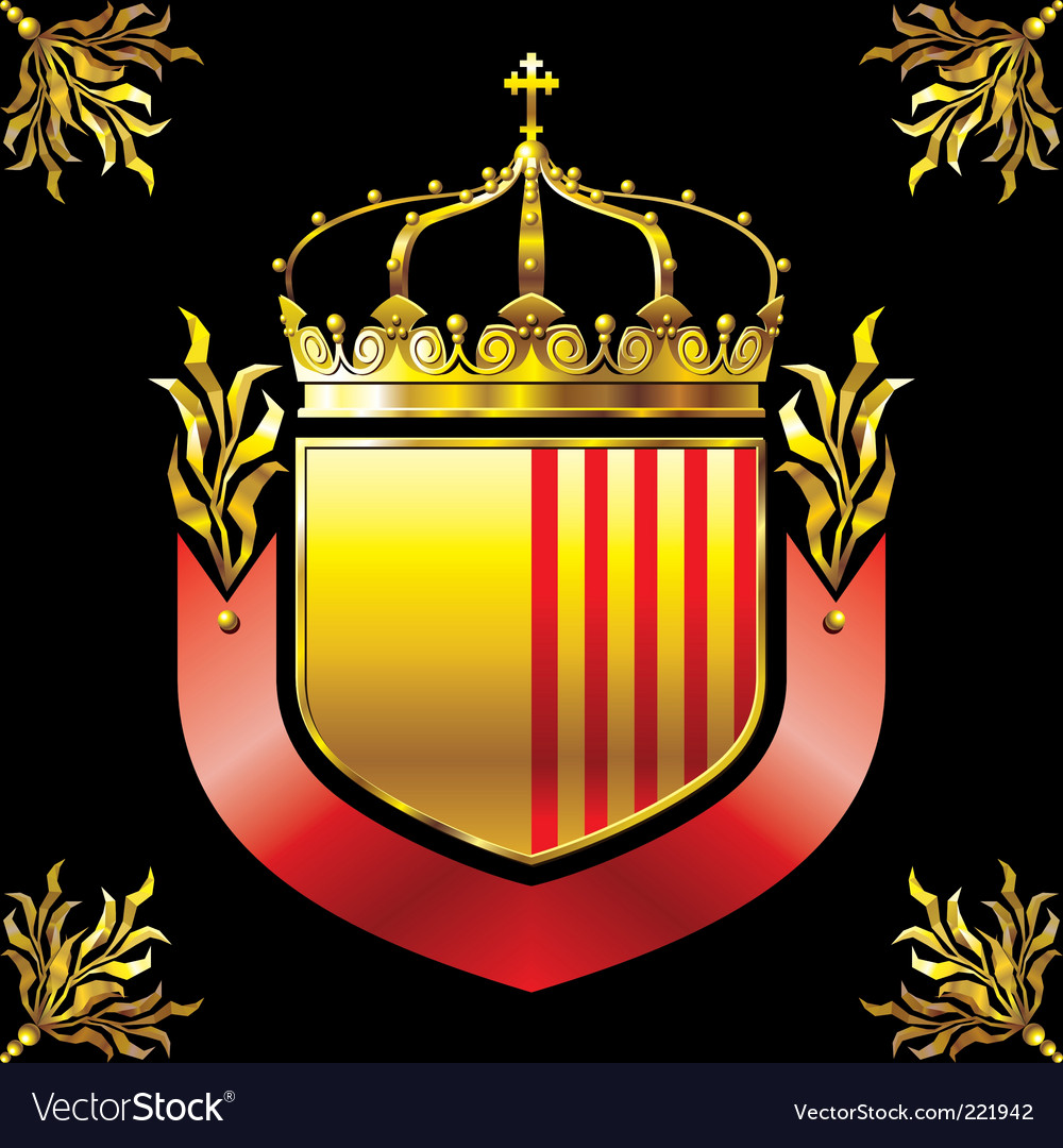 Shield and crown vector | Price: 1 Credit (USD $1)