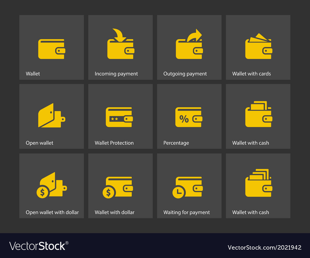 Wallet icons vector | Price: 1 Credit (USD $1)