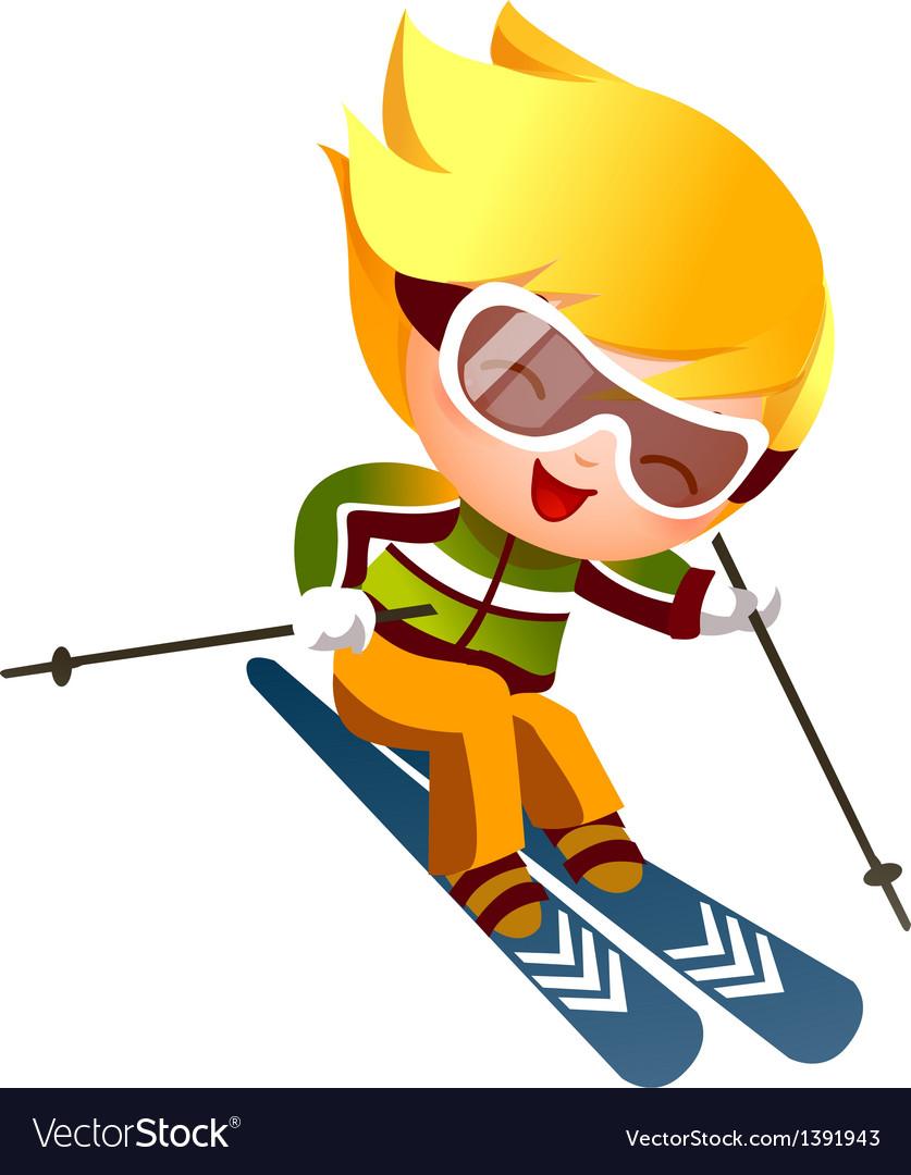 Boy skiing vector   Price: 3 Credit (USD $3)