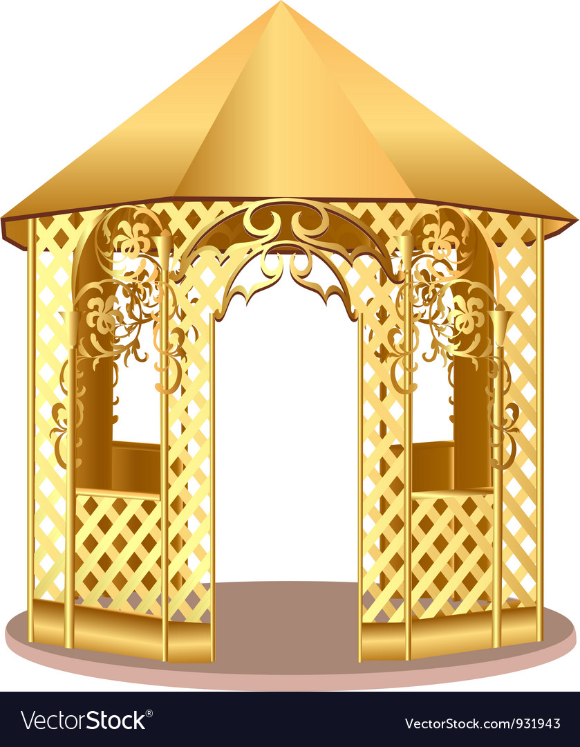 Garden gazebo vector | Price: 1 Credit (USD $1)