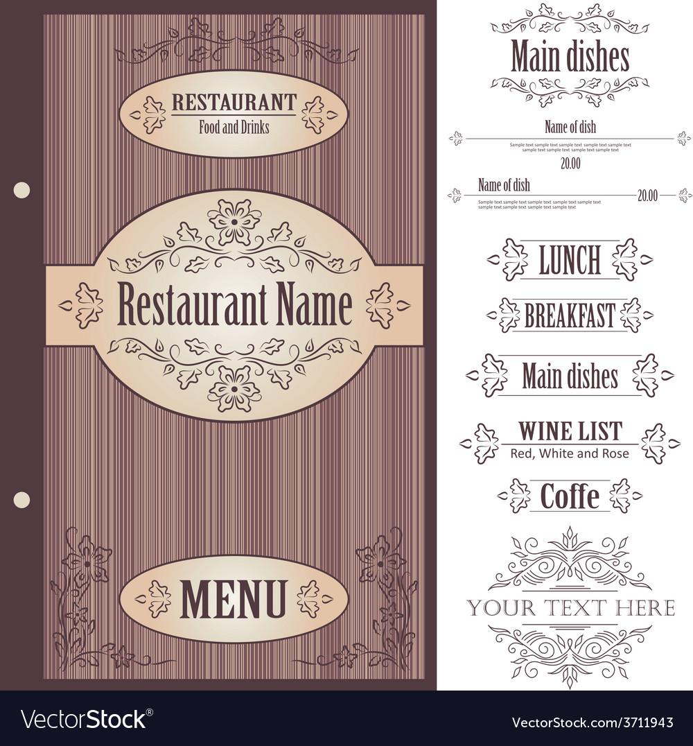 Restaurant menu design template - vector | Price: 1 Credit (USD $1)