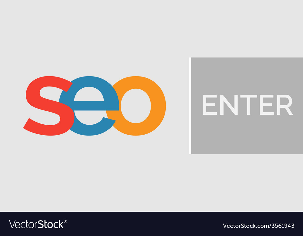 Seo word with enter button vector   Price: 1 Credit (USD $1)