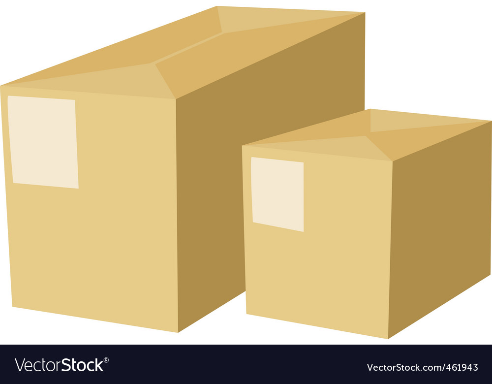 Two box vector | Price: 1 Credit (USD $1)
