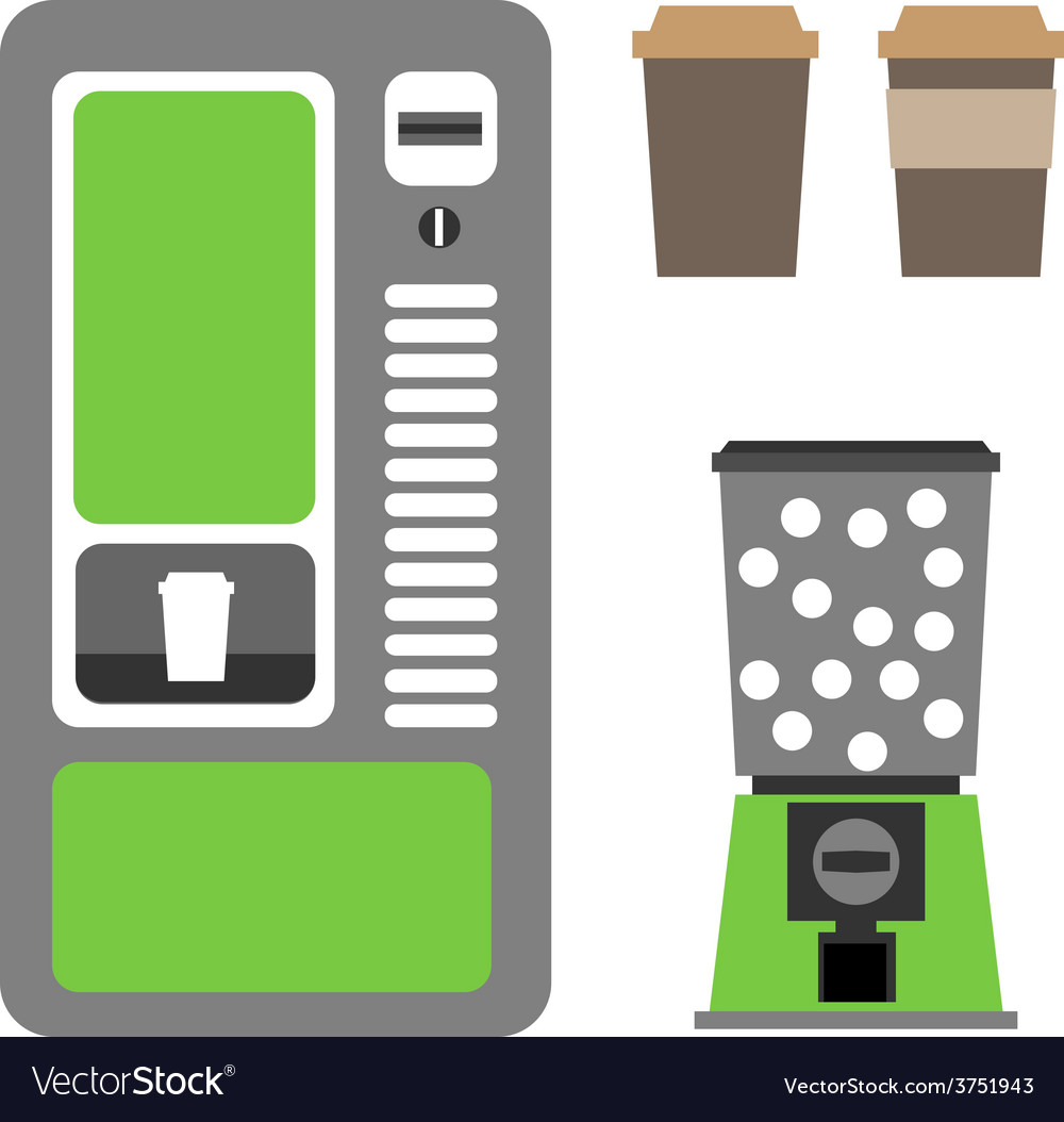 Vending machines coffee and mechanical vector | Price: 1 Credit (USD $1)