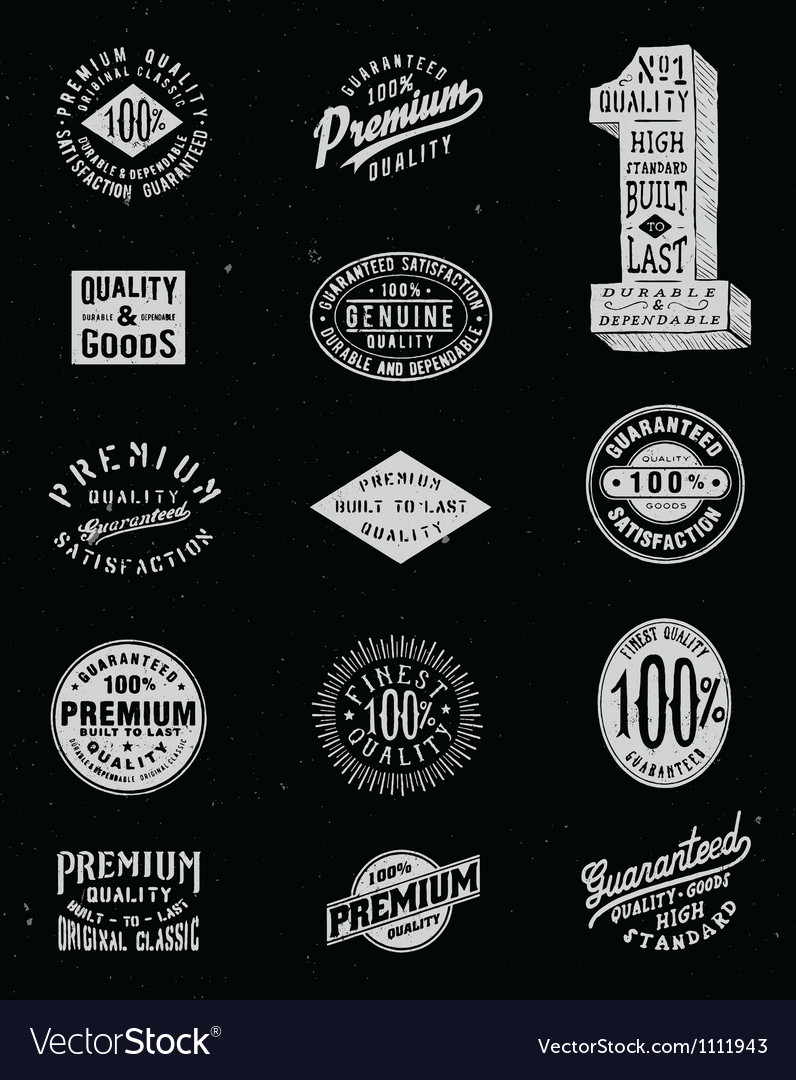 Vintage-label-set-vector