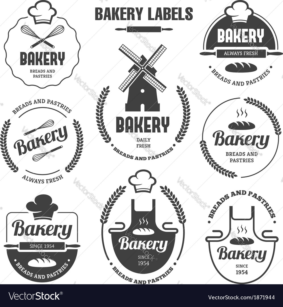 Bakery labels 1 vector | Price: 1 Credit (USD $1)