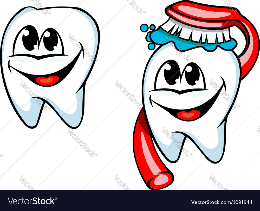Clean tooth with toothbrush and paste vector | Price: 1 Credit (USD $1)