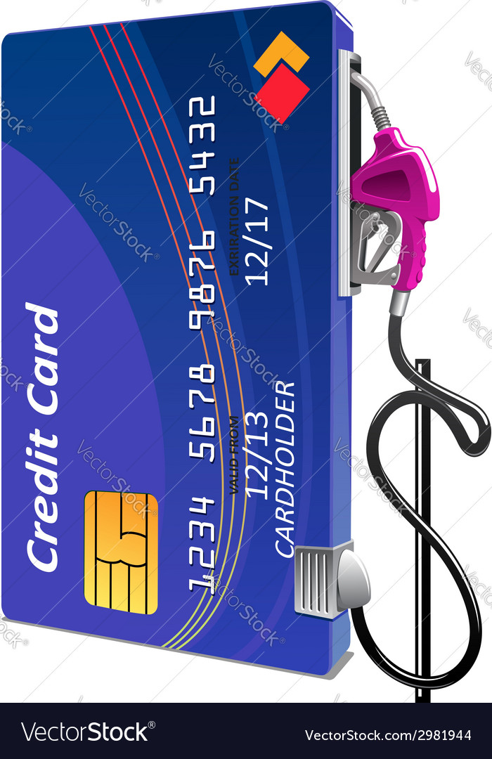 Credit card as gas pump vector | Price: 1 Credit (USD $1)