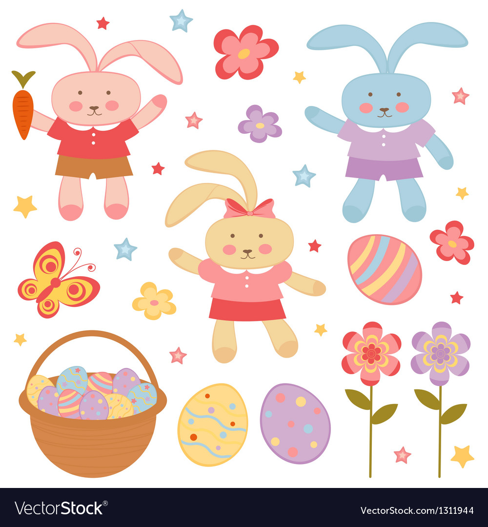 Easter set vector | Price: 3 Credit (USD $3)
