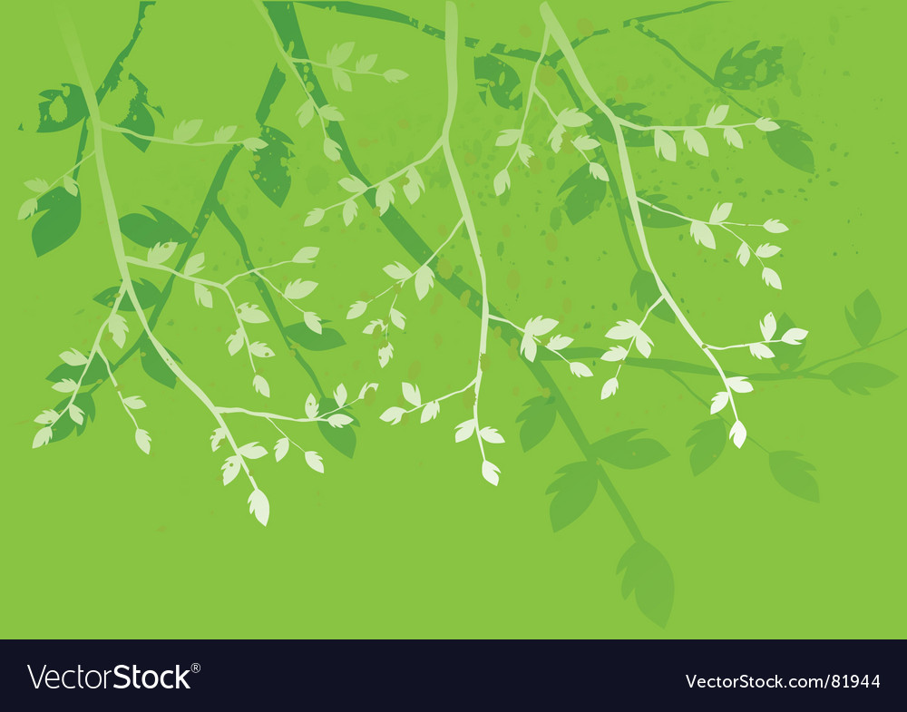 Floral background branches of the tree vector | Price: 1 Credit (USD $1)