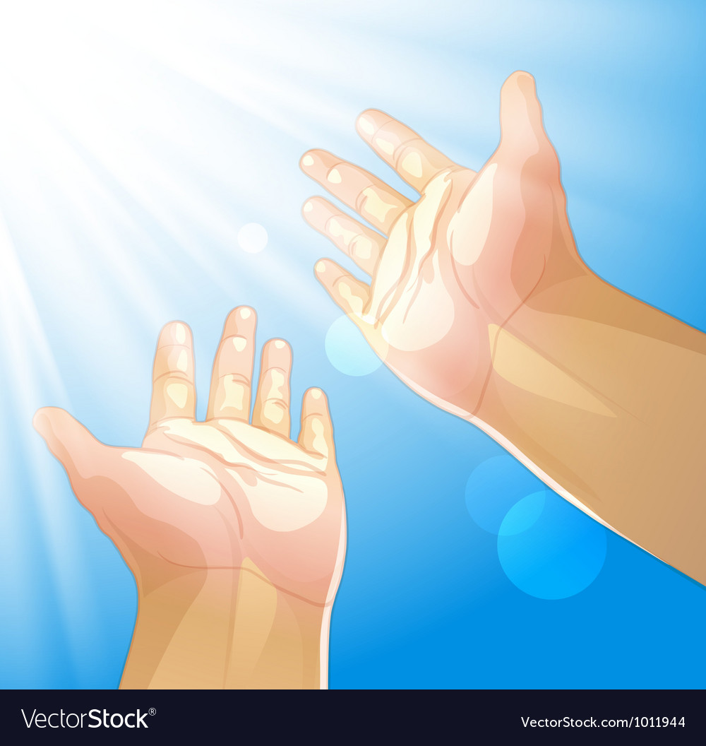 Hands outstretched to the sun vector | Price: 1 Credit (USD $1)
